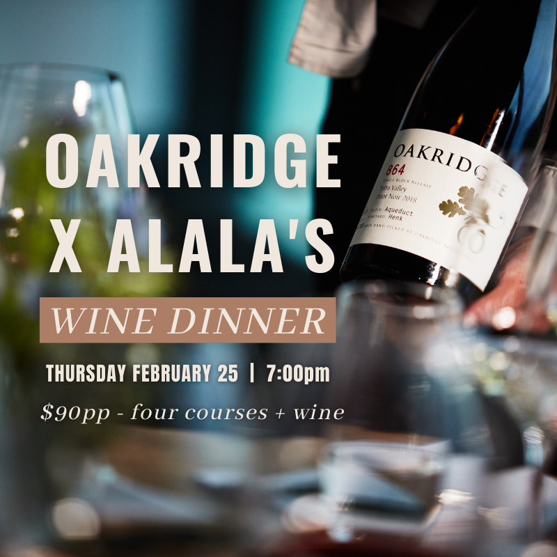 OAKRIDGE WINE DINNER
